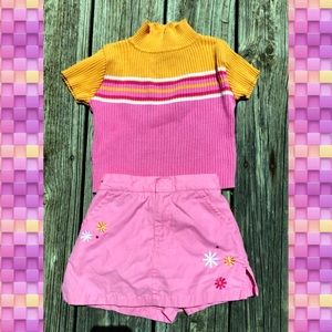 🆕List! Toddler Skort & Sweater Set! VGUC!